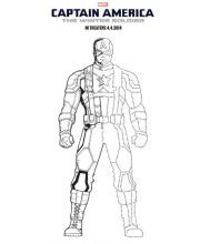 Captain America The Winter Soldier Coloring Page Captainamerica Wintersoldier Heroes