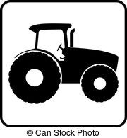 Tractor silhouette icon vector illustration