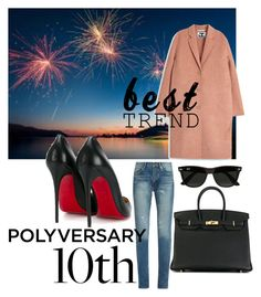 """""""Celebrate Our 10th Polyversary!"""" by mydreamingcloset ❤ liked on Polyvore featuring Yves Saint Laurent, Acne Studios, Ray-Ban, Hermès, Christian Louboutin, polyvorecommunity, polyversary, contestentry and polyvoreeditorial"""