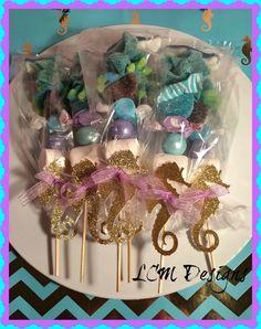Juego de brochetas  bajo el mar  Little Mermaid Candy Buffet