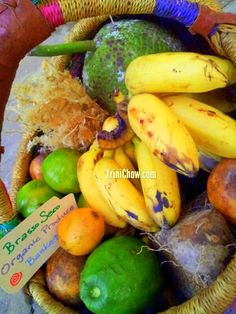 Local fruits, vegetables and provisions from Brasso Seco in Trinidad.