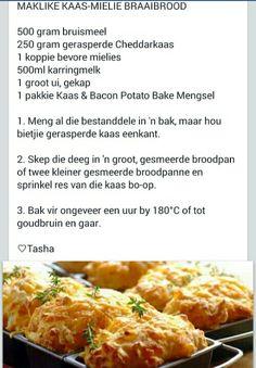 Braai Recipes, Cooking Recipes, Baking Soda Face Wash, Potato Rolls Recipe, Rusk Recipe, Kos, Graham Cracker Recipes, Bread Dough Recipe, Bread Ingredients