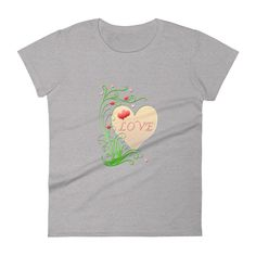 Love Women's short sleeve t-shirt base trend Anvil Tshirt 880 Women's Shirt Funny Womens Tee Gift For Her, print tshirt, heart t-shirt Circular Knitting Machine, Fabric Structure, Gifts For Her, Base, T Shirts For Women, Trending Outfits, Sleeve, Womens Fashion, Funny