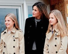 Infanta Sofia of Spain, Queen Letizia of Spain and Crown Princess Leonor of Spain.
