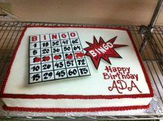 Bingo Birthday cake. Retirement Decorations, Retirement Cakes, Cake Decorations, 85th Birthday, Birthday Cakes, Birthday Parties, Birthday Ideas, Bingo Cake, Bingo Party
