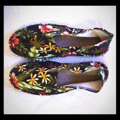 Tropical Print Espadrilles Brand new tropical print espadrilles. ASOS Shoes Espadrilles
