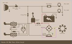 honda cb350 simple wiring diagram google search useful rh pinterest com cb350f wiring diagram 1972 cb350 wiring diagram