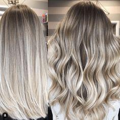 Blonde Hair Looks, Blonde Hair With Highlights, Brown Blonde Hair, Dark Hair, Icy Blonde, Blonde Bayalage Hair, Blonde Balayage Mid Length, How To Bayalage Hair, Blonde Honey