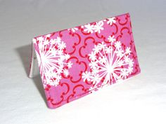Pink Queen Annes Lace Floral Business Card Holder or by ShastaBlue, $8.00