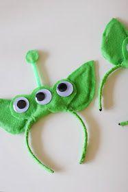 Ariel and Alder: DIY Toy Story Alien Costume