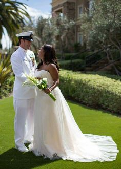 Gorgeous interracial military couple wedding celebration #love #wmbw #bwwm