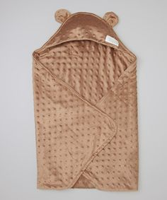 ee45a9191a9db Look at this Brown Minky Cuddle Cape Blanket on #zulily today! Dziecko  Dziecko,