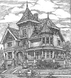 Richly Detailed Exclusive Victorian House Plan - thumb - 01 - House Plans, Home Plan Designs, Floor Plans and Blueprints Victorian House Plans, Victorian Homes, Antique House, Victorian Interiors, Victorian Furniture, Victorian Decor, Garage House Plans, House Floor Plans, House With Porch