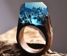 Handmade secret wood ring