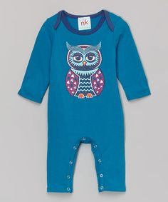 Look at this nktoo by Nohi Kids Teal Owl Playsuit - Infant on today! My Baby Girl, Baby Love, Boy Fashion, Fashion Outfits, Beautiful Babies, Playsuit, Toddler Girl, Infant, Teal