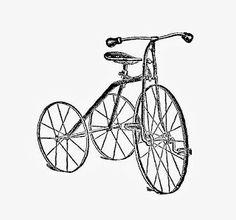 vintage - 1919 tricycle freebie.... in both jpg and png