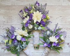 Succulent Wedding Bouquet  Lavender Purple by SouthernGirlWeddings