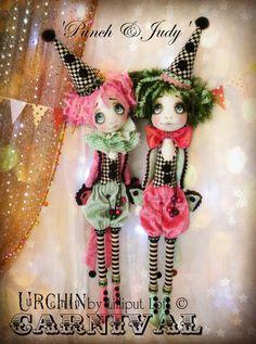 Art dolls...Urchin 'Punch & Judy' by Vicki at Lilliput Loft