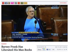 Men's bodies mocked for failing to conform to a gender binary (click thru for a personal story) Barney Frank, Gender Binary, Safe For Work, Sociology, Male Body, My Man, Feminism, Boobs, Politics
