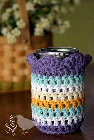 Love The Blue Bird: Mason Jar Cozy...