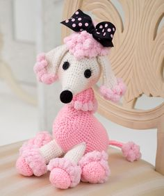 Pomp-a-Poodle Crochet Pattern. Red Heart Free Pattern - no membership required