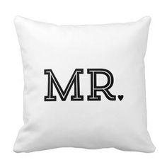 Mr. and Mrs. Cute Wedding Keepsake Newlywed Gift Pillows