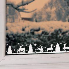 Festive Window Border Decoration (Reinde