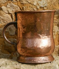 Rare Huge French Antique Copper Jug by FrenchVintageFancies Copper Pans, Copper Kitchen, Iron Decor, French Decor, Antique Copper, French Antiques, Wood Art, French Country, Pewter