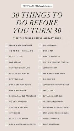 Vie Motivation, Things To Do When Bored, 30 Things To Do Before 30, 30 Before 30 List, Self Care Activities, Couple Activities, Learn A New Language, Instagram Story Template, Instagram Templates