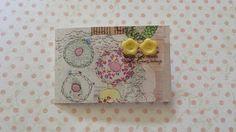 yellow flower button post earrings jewelley by maxollieandme on Etsy