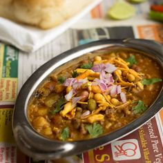 Misal is a spicy curry made with mixed sprouts or moth beans (matki) and pav are buns (laadi pav).