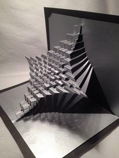 Astroid : kirigami pop-up paper sculpture Kirigami Patterns, Arte Pop Up, Pop Up Art, Origami And Kirigami, Origami Paper, 3d Paper Art, Paper Crafts, Bd Design, Paper Structure