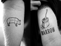 Love the marrow chef tattoo - great font