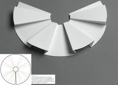"""Paul Jackson - """"Folding techniques for designers from sheet to form"""" - rotational box pleats"""