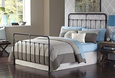 Fairfield Complete Bed with Metal Duo Panels and Castings, Dark Roast Finish, King