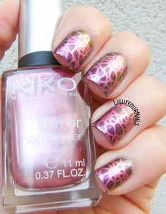 Duochrome stamping with plate BPL-028 from @bornprettynails #bornprettystore…