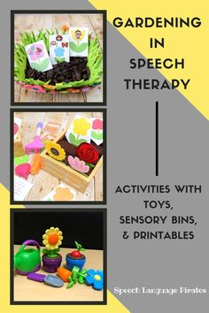 gardening theme with preschoolers to use in speech therapy