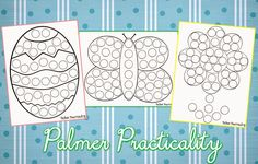 Palmer Practicality: Spring Do a Dot Printables