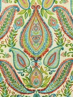 OMBRE PAISLEY POPPY #kilim #multi-colored #print-fabrics