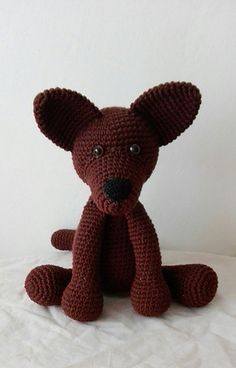 This pattern includes instructions how to crochet a dog and material you will need.