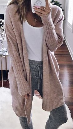 Cute casual outfits for women, fall outfits, fashion Trends, long Cardigan fall, Winter Mode Outfits, Lazy Day Outfits, Cute Winter Outfits, Cute Casual Outfits, Winter Fashion Outfits, Autumn Winter Fashion, Fall Fashion, Cardigan Sweaters For Women, Long Cardigan