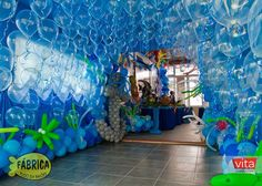 Under the sea theme party 🐳 Under The Sea Theme, Under The Sea Party, Little Mermaid Parties, Shark Party, Ocean Themes, Mermaid Birthday, Balloon Decorations, Ocean Party Decorations, Under The Sea Decorations
