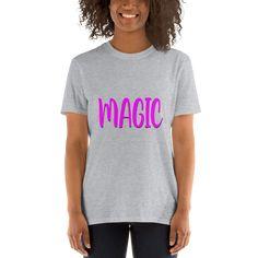 Magic! Unisex T-Shirt (Pink Text) - Sport Grey / L