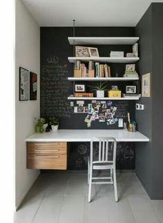 Alcove – contemporary – Home Office – Ottawa – John Donkin Architect Inc. – desk… – Home office design layout Office Nook, Home Office Space, Home Office Design, Home Office Decor, House Design, Office Ideas, Desk Ideas, Desk Nook, Office Designs