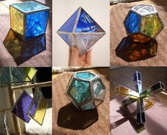 Goregeous stained glass sculptures in this etsy shop