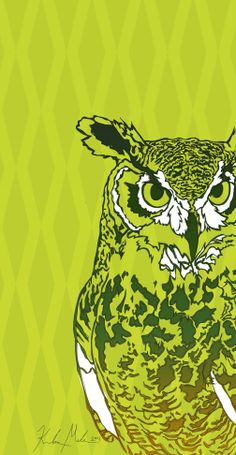 Owl - 2014 [digital drawing]   More Artwork on MederMade.wordpress.com - Portfolio: KendraMeder.wordpress.com