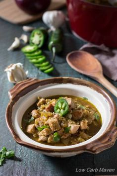 This Easy Green Chile Stew is so simple and economical   low carb, gluten-free, dairy-free, Paleo, THM   Low Carb Maven