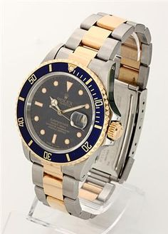 Rolex Oyster Perpetual Date Submariner, gold and steel. 1987