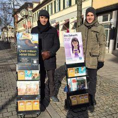 Public witnessing in Ludwigsburg, Stuttgart, Germany.