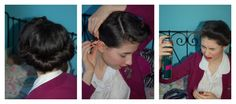 Easy 1940s working girl hairstyle tutorial